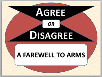 A FAREWELL TO ARMS - Agree or Disagree Pre-reading Activity