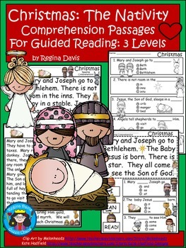 A+ Christmas Nativity...Differentiated Instruction For Guided Reading