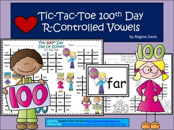 A+ 100th Day Tic-Tac-Toe  Word Practice