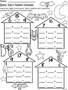 A+ Bats: Fact Family Houses