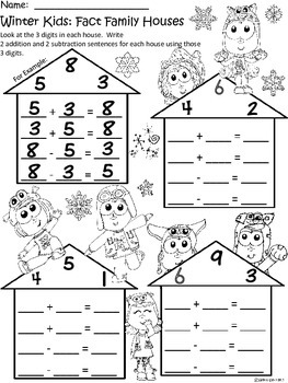 A+ Winter Kids: Fact Family Houses