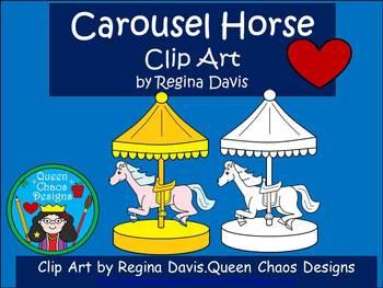 A+ Carousel Horse Clip Art