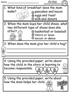 A+ Mother's Day Guided Reading I-16-Book, Lesson Plan, Assessment, Writing