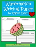 A+ Watermelon: Writing Paper