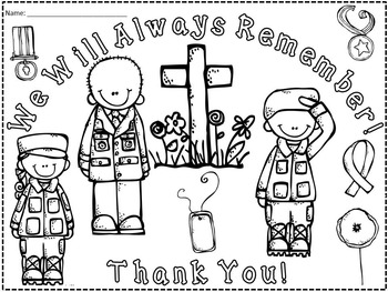 A+ FREEBIE: Memorial Day Poster...We Will Always Remember!