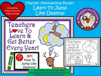 A+ FREEBIE....Teacher Motivational Poster:  Learn To Jump