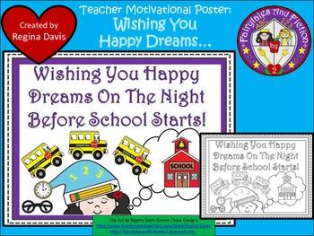 A+ FREEBIE....Teacher Motivational Poster:  Wishing You Ha