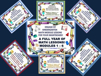 A FULL YEAR OF MATH LESSONS!!! Engage NY Kindergarten Math Modules 1-6!
