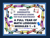 A FULL YEAR OF SmartBoard MATH LESSONS!!! ENY Kindergarten Math Modules 1-6!