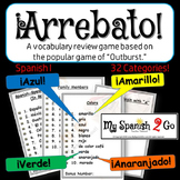 "A FUN SPANISH REVIEW GAME! Arrebato! (Like ""Outburst!"")--Spanish I or II"