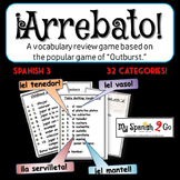 "A FUN SPANISH REVIEW GAME! Arrebato! (Like ""Outburst!"")--Spanish III or IV"
