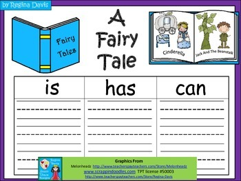 A+  Fairy Tales... Three Graphic Organizers