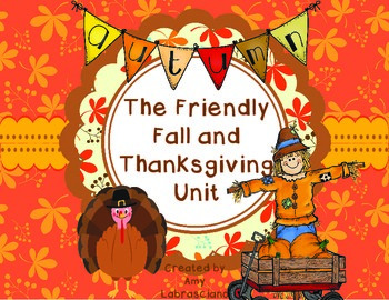 Fall And Thanksgiving Unit including Johnny Appleseed