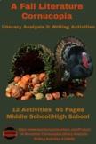 A Fall Cornucopia: Literary Analysis & Writing Activities