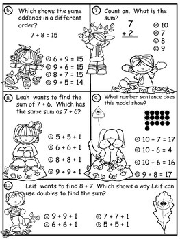 A+  Fall Leaves: Addition Practice