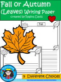 A+ Fall or Autumn (Leaves) Writing Paper