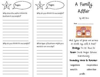 A Family Affair Trifold - 4th Grade Literacy by Design Theme 13