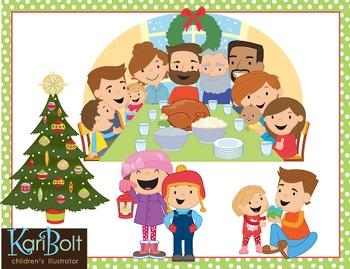 Family Christmas Clip-Art