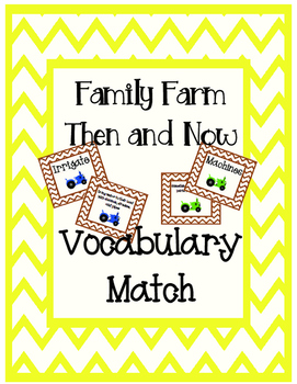 A Family Farm Texas Treasures Vocabulary Match