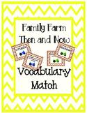 A Family Farm Texas Treasures Vocabulary Match