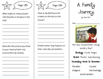 A Family Journey Trifold - 3rd Grade Literacy by Design Theme 6