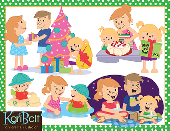 A Family Summer Christmas - Southern Hemisphere Clip-Art