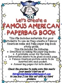 A Famous American Make and Take Paper Bag Book Study Guide