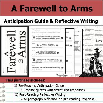 A Farewell to Arms - Anticipation Guide & Post Reading Reflection
