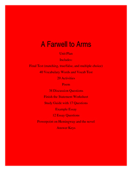 A Farewell to Arms Unit