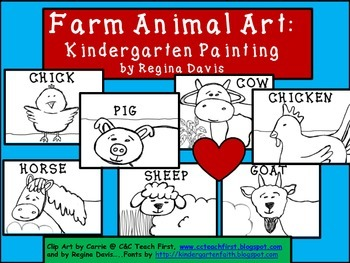 A+ Farm Animal Art: Kindergarten Painting