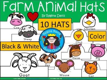 A+ Farm Animal Hats