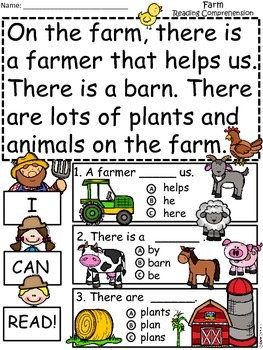 A+ Farm Comprehension: Differentiated Instruction For Guided Reading