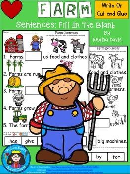 A+ Farm Sentences: Fill In The Blank