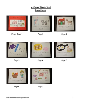 A Farm Thank You Book About Farm Products for Students to Make