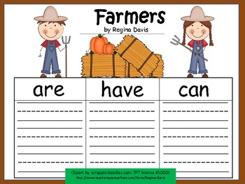 A+ Farmers During Fall Harvest: Graphic Organizers