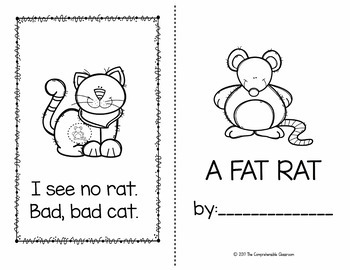 A Fat Rat kindergarten sight word storybook