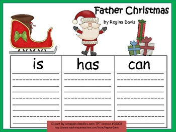 A+ Father Christmas: Graphic Organizers