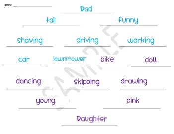 A Father's Day Diamante Poem by Primary World | Teachers Pay Teachers