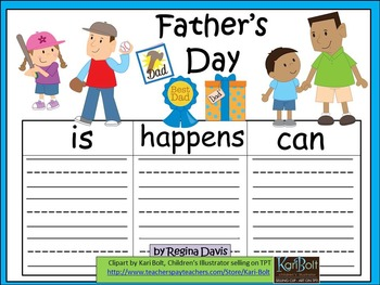 A+  Father's Day... Three Graphic Organizers