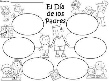A+  Father's Day... Three Spanish Graphic Organizers