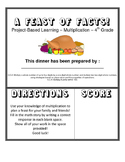 A Feast of Facts - A Multiplication Project about Planning a Dinner Party!
