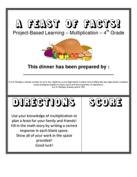 A Feast of Facts - A Multiplication Project about Planning