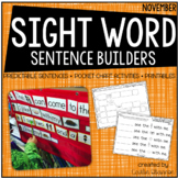 Sentence Building {Sight Word Activities for November}