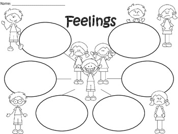A+  Feelings ... Three Graphic Organizers