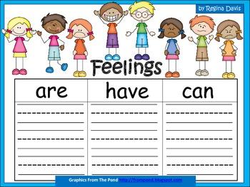 A+  Feelings ... Three Graphic Organizers