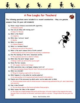 """A Few Laughs for Teachers!"""