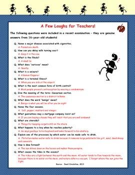 """A Few Laughs for Teachers!"""