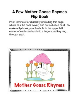 Mother Goose Rhymes Flip Book