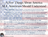 A Few Things About America All Americans Should Understand Poster