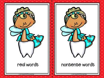 A Few Words From The Tooth Fairy:  LOW PREP Dental Health Word Sorting Activity